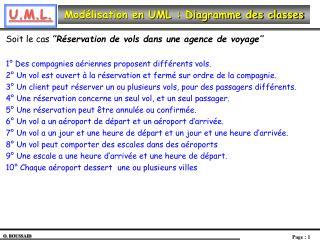Mod�lisation en UML : Diagramme des classes