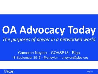 OA Advocacy Today