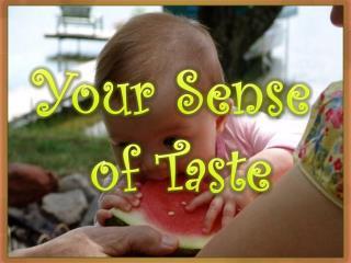 Your Sense  of Taste