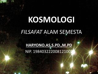 FILSAFAT  ALAM SEMESTA