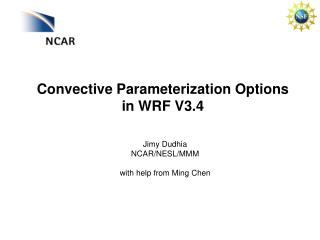 Convective  Parameterization  Options in WRF  V3.4