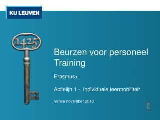 Beurzen voor personeel Training