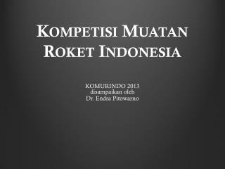 Kompetisi Muatan Roket Indonesia