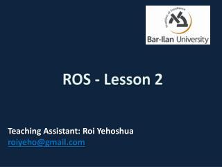 ROS - Lesson 2