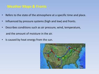 Weather Maps & Fronts