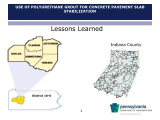 Use of Polyurethane Grout for Concrete Pavement Slab Stabilization