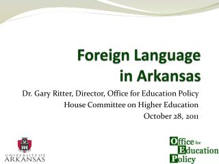 Foreign Language  in Arkansas