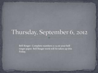 Thursday, September 6, 2012
