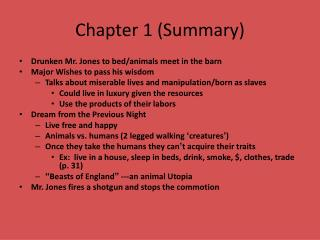 Chapter 1 (Summary)