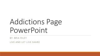 Addictions Page PowerPoint