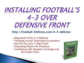 Installing Football's 4-3 Over Defensive Front