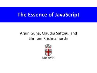 The Essence of JavaScript