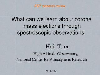 What can we learn about coronal mass ejections through spectroscopic observations