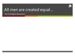 All men are created equal…