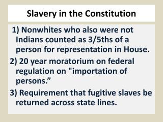 Slavery in the Constitution