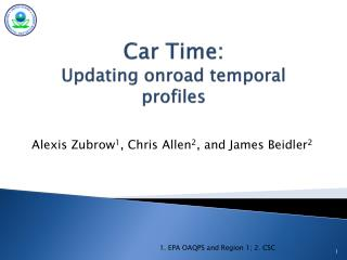 Car Time: Updating  onroad  temporal profiles