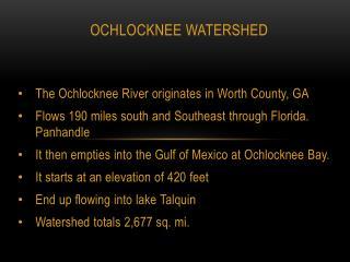 Ochlocknee Watershed