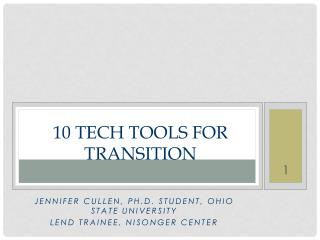 10 Tech Tools For Transition