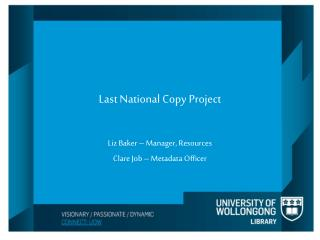 Last National Copy Project
