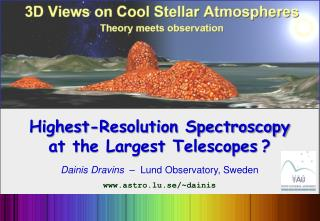 Highest-Resolution Spectroscopy at the Largest Telescopes ?