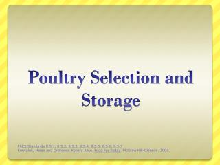 Poultry Selection and Storage