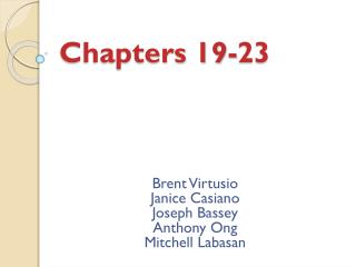 Chapters 19-23