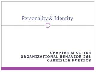 Personality & Identity