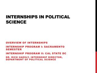 Internships In Political Science