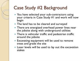 Case  Study #2 Background