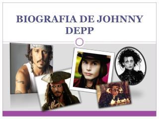 BIOGRAFIA DE JOHNNY DEPP