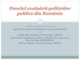 Panelul evaluării politicilor publice din România