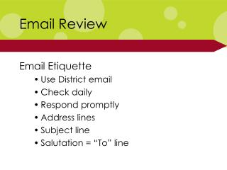 Email Review