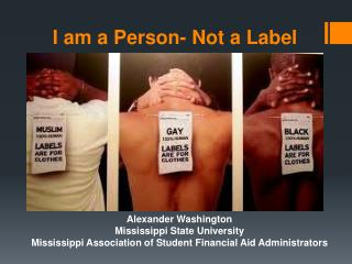 I am a Person- Not a Label