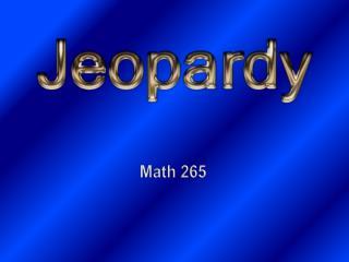 Math 265
