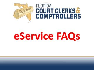eService FAQs