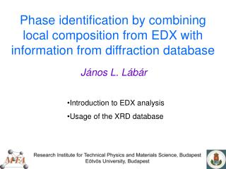 Phase identification by combining local composition from EDX with information from diffraction database