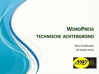 WordPress technische achtergrond