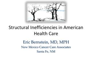 Structural  Inefficiencies in American Health Care
