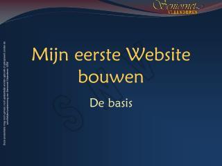 Mijn eerste Website bouwen