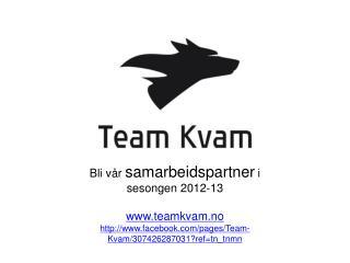 Bli vår  samarbeidspartner  i  sesongen 2012-13