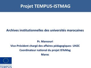 Projet TEMPUS-ISTMAG