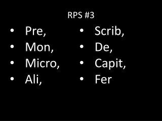 RPS # 3