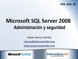 Microsoft SQL Server 2008