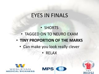 EYES IN FINALS