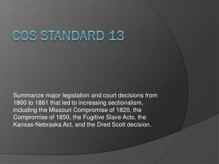 COS Standard 13