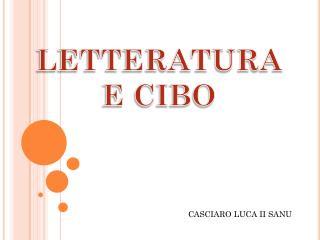 LETTERATURA E CIBO
