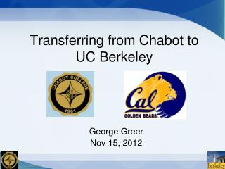 Transferring from Chabot to UC Berkeley