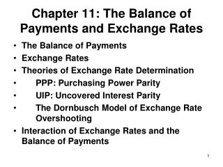 Chapter 11: The  Balance of Payments and Exchange Rates