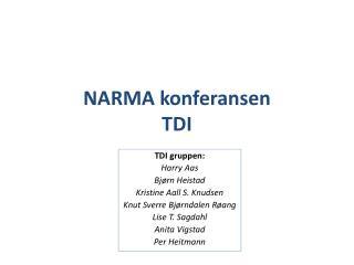 NARMA konferansen TDI