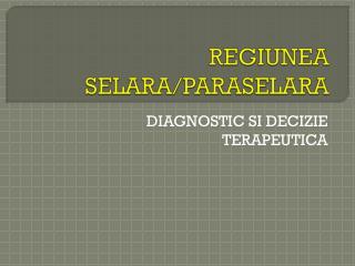 REGIUNEA SELARA/PARASELARA